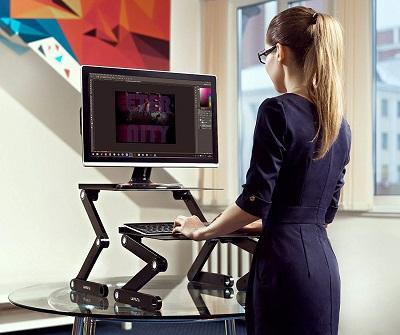 Schreibtischaufsatz, Laptoptisch