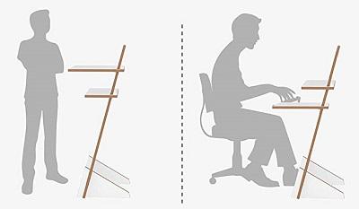 höhenverstellbares Stehpult auch zum Sitzen