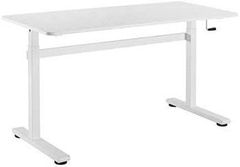 Sitz-Steh-Schreibtisch mit Kurbel