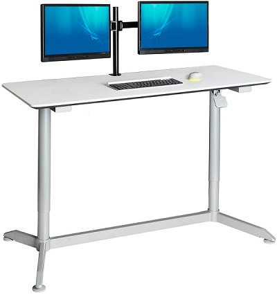 pneumatisch verstellbarer Sitz-Steh-Schreibtisch Seville