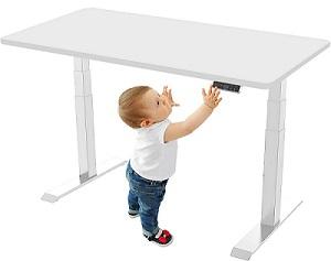 Kindersicherung am höhenverstellbaren Schreibtisch SANODESK