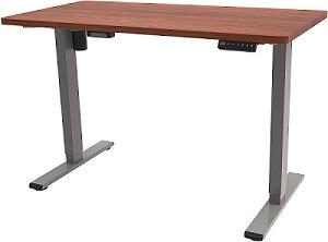 elektrisch höhenverstellbarer Schreibtisch Flexispot E1 mahagoni
